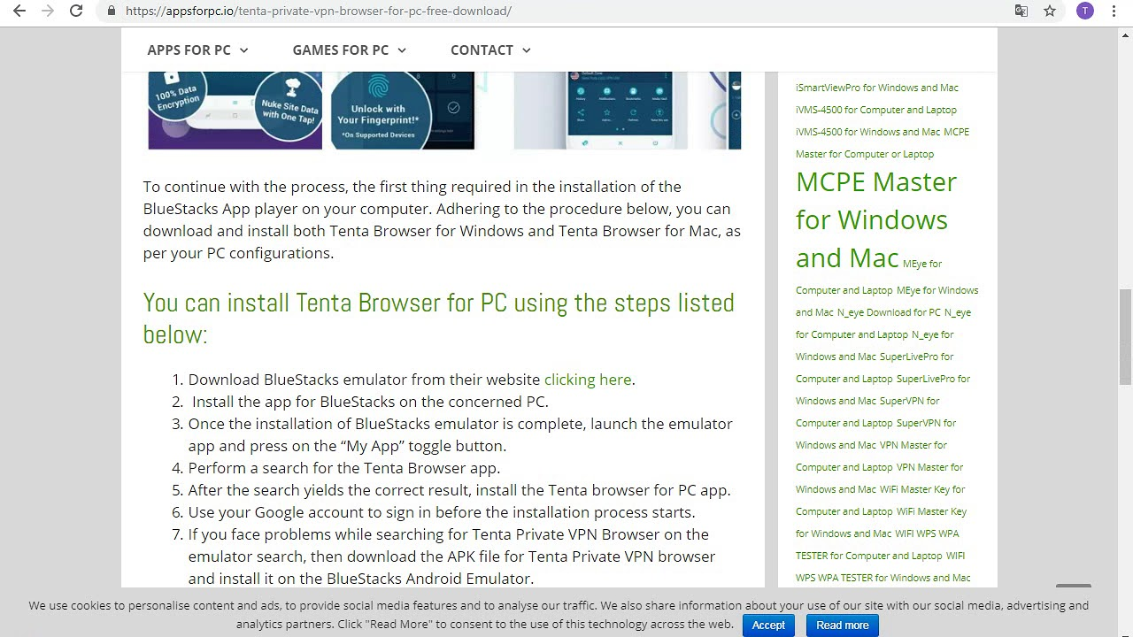 Tenta Private VPN Browser for PC - Windows 7/8/10 - Free Download
