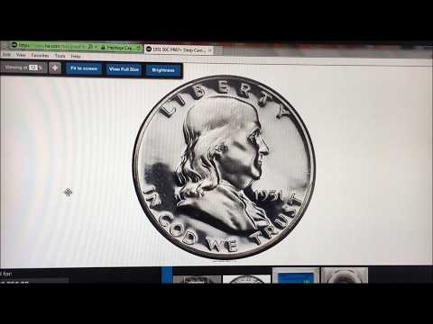 RARE 1951 FRANKLIN HALF DOLLAR WORTH A LOT OF MONEY! VALUABLE HALF DOLLARS TO LOOK FOR!