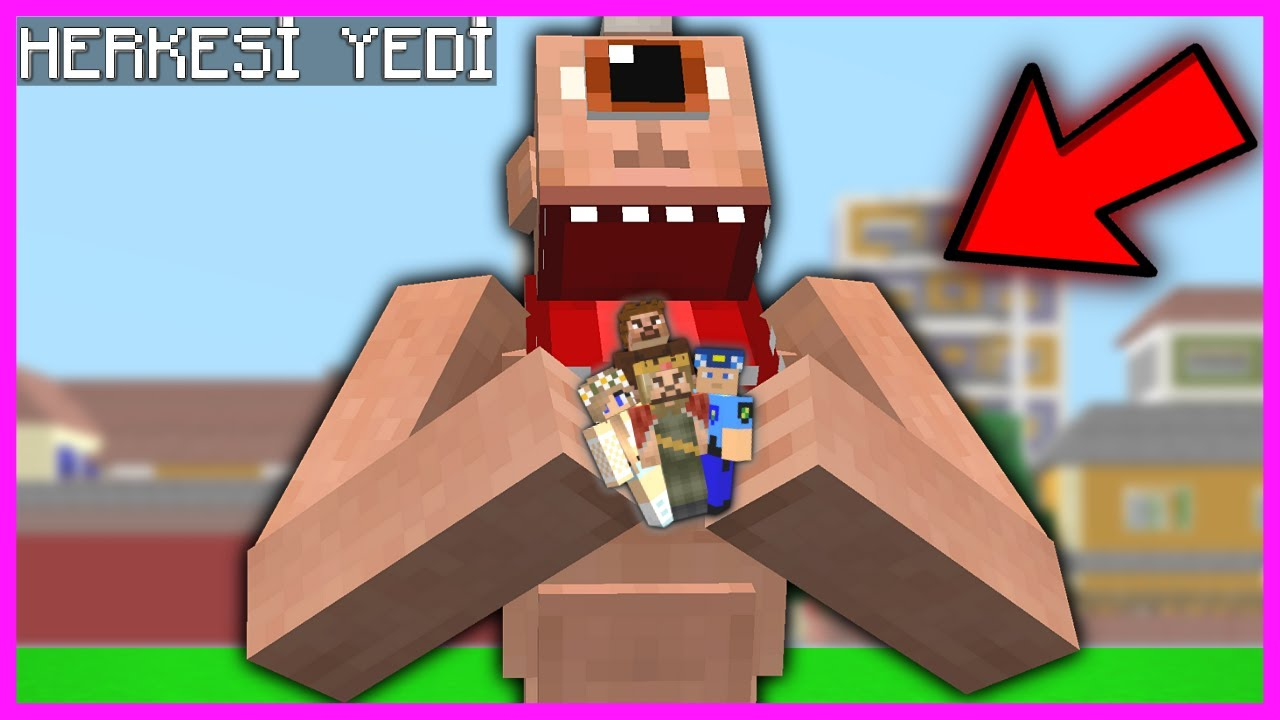TEPEGÖZ ŞEHİRDEKİ HERKESİ YEDİ! 😱 - Minecraft