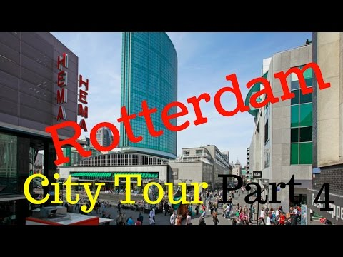 Rotterdam, The Netherlands.. Walking City Tour (Part4/12) Rodezand/Korte Hoogstraat (4K)