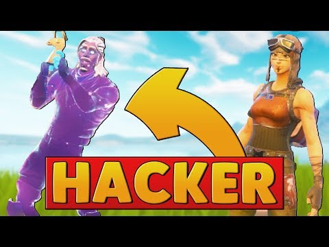 A GALAXY SKIN HACKER JOINED MY GAME   Fortnite Battle Royale