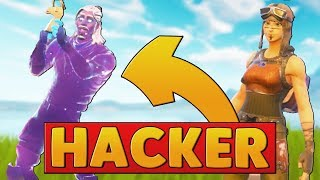A GALAXY SKIN HACKER JOINED MY GAME | Fortnite Battle Royale
