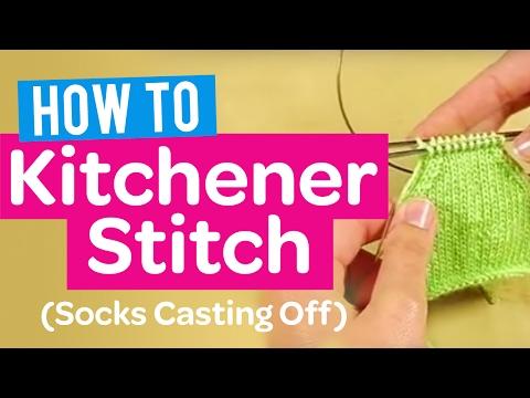 HOW TO KITCHENER STITCH (SOCKS CASTING OFF) | KNIT TUTORIAL