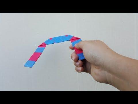 Einen Boomerang Aus Papier Machen Basteln