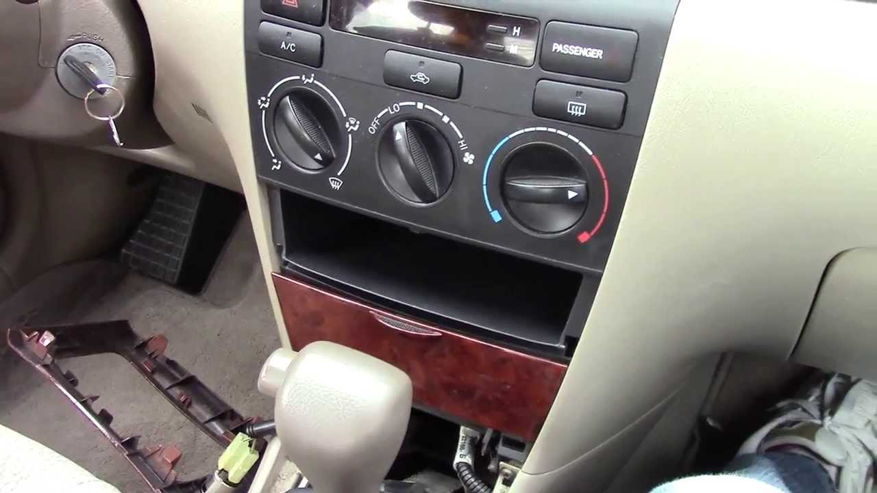Toyota Corolla Ac Dash Removal 2002 2008 Youtube