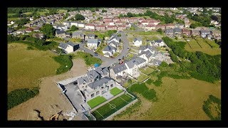 Flying over Hendy Village Carmarthenshire - South Wales