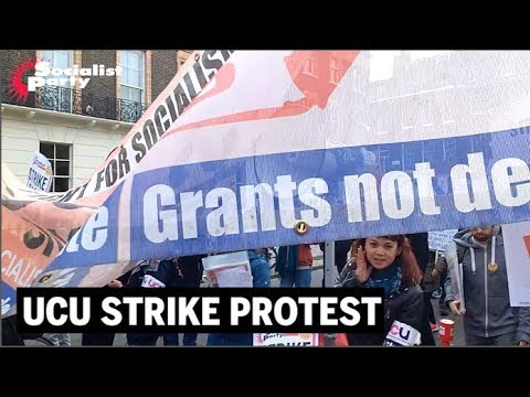 UCU pensions strike protest 14 March 2018