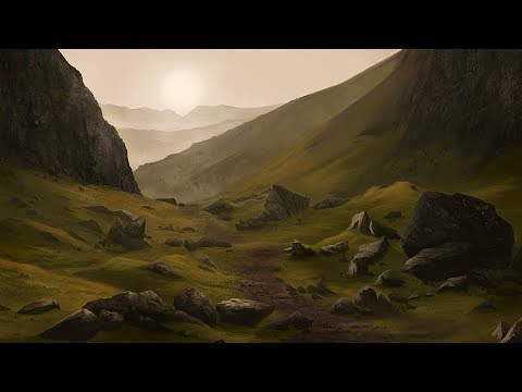 Painting With Reference Photo – Rocky Landscape Timelapse
