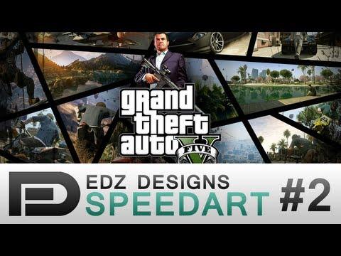 EdzDesigns - Speedart #2 - GTA 5 Wallpaper design