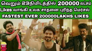 With in just 23 minutes Vijay Mersal Got 200k Likes & Beats Vivegam | Teaser Reactions | SCN-146