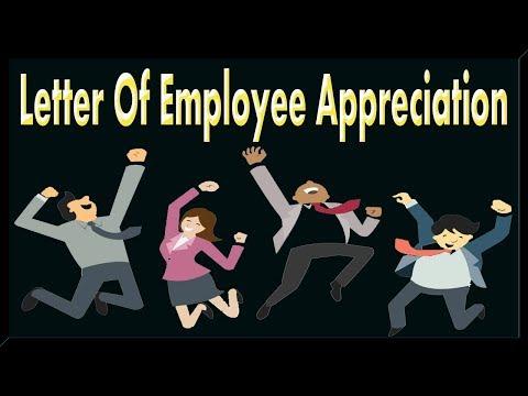 Letter Of Employee Appreciation.