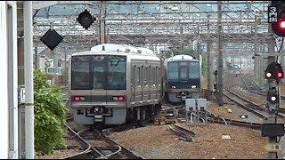 2019.05.18 JR西日本 207系T21編成+S59編成 回送 留置線引き上げ 高槻駅