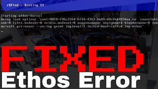 Ethos rEFInd   Booting OS error