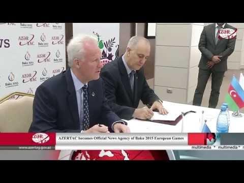 AZERTAC becomes Official News Agency of Baku 2015 European Games