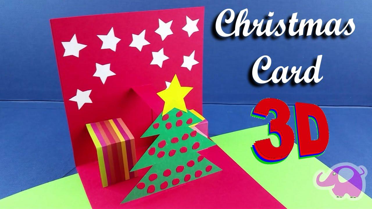 Tarjeta de navidad 3d paso a paso
