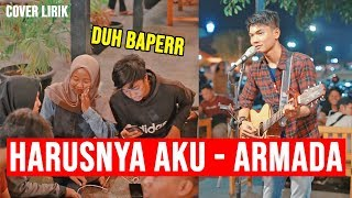 Download HARUSNYA AKU - ARMADA (LIRIK) COVER BY TRI SUAKA - PENDOPO LAWAS