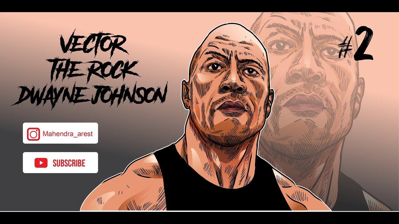 The Rock Dwayne Johnson Full Coloring Dengan Adobe Illustrator Cs6