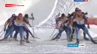 СУПЕР ГОНКА! Лыжные гонки Мужчины Ошеломляющий результат!!! Смотреть обязательно!!! ФИНИШ