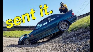 Sent it! (I Crashed the BMW) Ft Monky London, Paul Wallace & DriftlandTV!