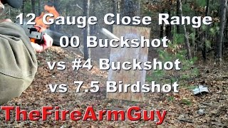 12 Gauge Shot Pattern & Penetration. 00 Buckshot vs #4 Buckshot vs 7.5 Birdshot - TheFireArmGuy