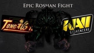 Epic Roshan Fight VS TongFu @ The International 2