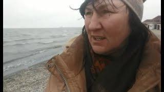 Пустынный пляж  Очень холодно  Все собаки попрятались