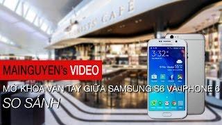 so sanh mo khoa van tay giua galaxy s6 va iphone 6 - wwwmainguyenvn