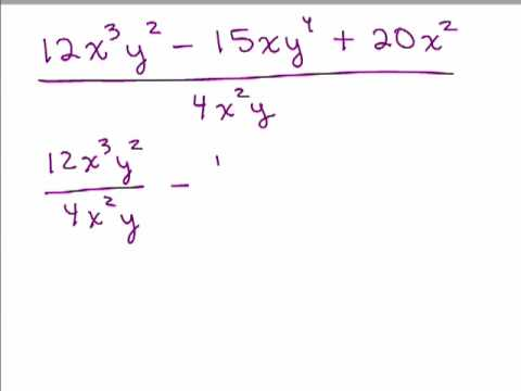 Divide a Polynomial by a Monomial - YouTube