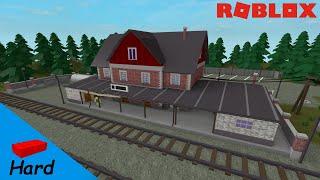 ROBLOX STUDIO SPEED BUILD / Stazione ferroviaria [Day]