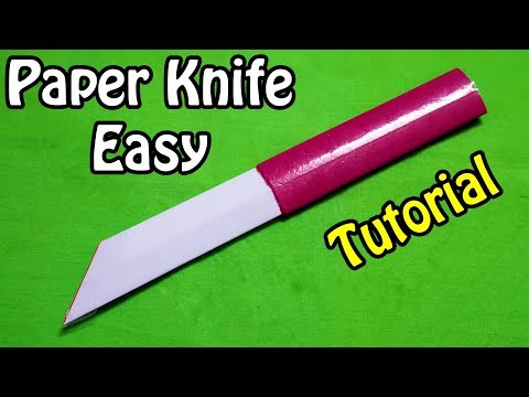 How to make a Paper Knife   Easy   Paper Knife Tutorial