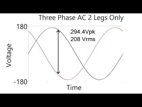 120V from both 240V single phase and 208V 3 phase systems? - YouTube