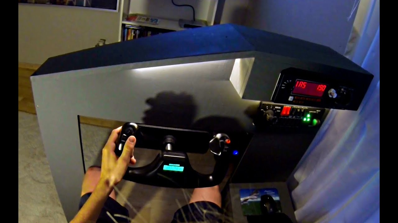Home flight simulator set up - Simple Homecockpit For Flight Simulator