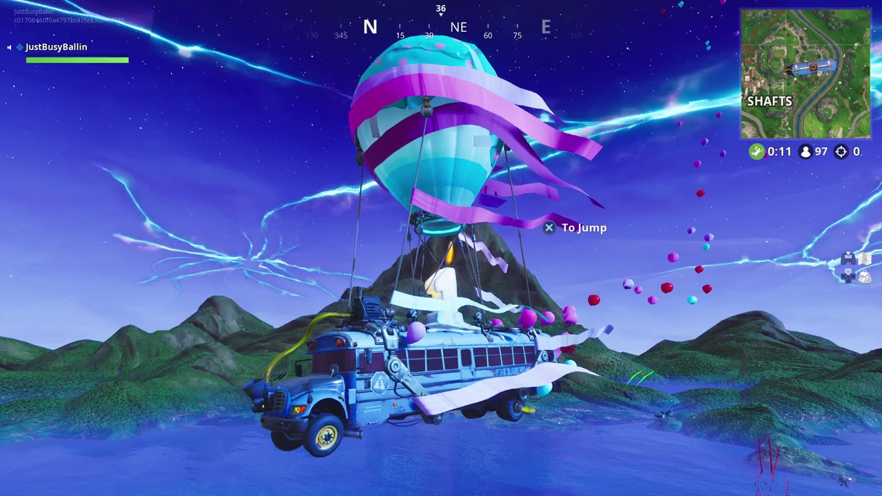 Fortnite New Battle Bus Song 1 Year Anniversary Youtube