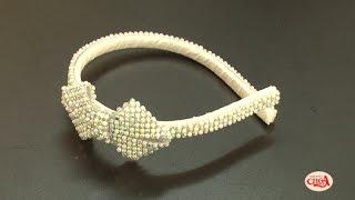 Aprenda como encapar uma tiara com Eliana Donato