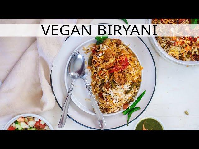 VEGAN BIRYANI - VEG BIRYANI - VEGAN INDIAN FOOD