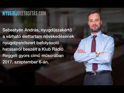 Sebestyén András nyugdíjszakértő a Klub Rádió Reggeli gyors című műsorában.