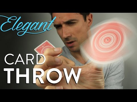 How To Throw A Playing Card Easy And Elegant - Flicker Flic Tutorial