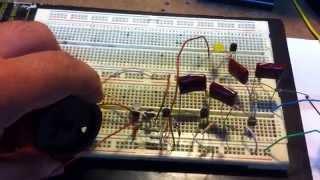 Radio receptor am usando 4 transistores comunes 2n2222
