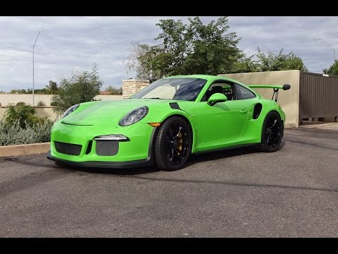 2016 Porsche 911 GT3 RS in Green Paint & Engine Sound on My Car Story with Lou Costabile