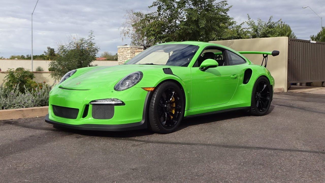 2016 Porsche 911 Gt3 Rs In Green Paint Amp Engine Sound On