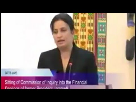 Gambia - Lebanese Business Woman Laly Diab Testifies At The Commission Of Enquiry