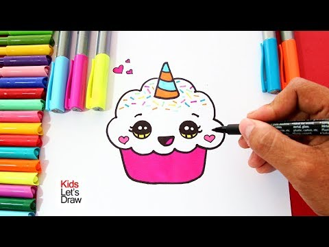 Como Dibujar Un Cupcake Unicornio Facil Paso A Paso How To Draw A