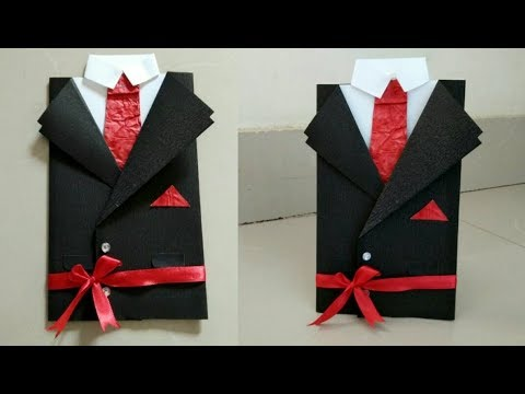 DIY Easy Suit-Tuxedo greeting card/ Suit-Tie Card/Father's Day Card/Birthday Card