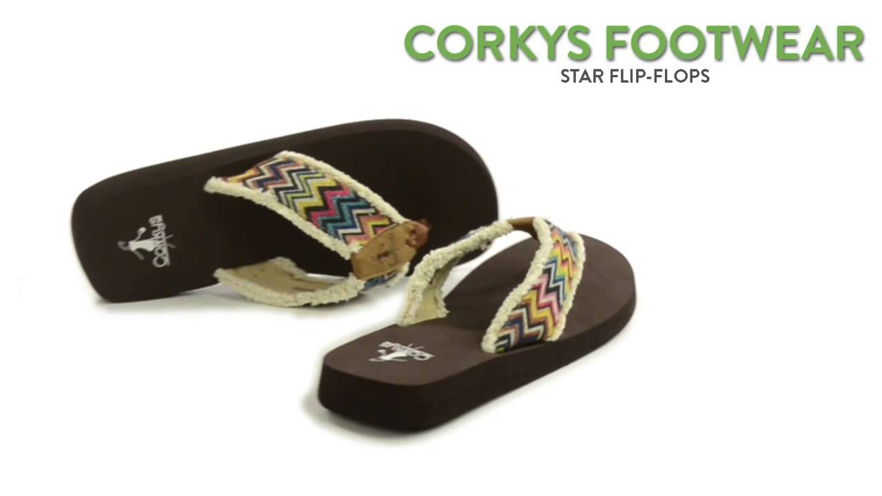 d7db8f00e8f0 Corkys Footwear Star Flip-Flops (For Women) - YouTube