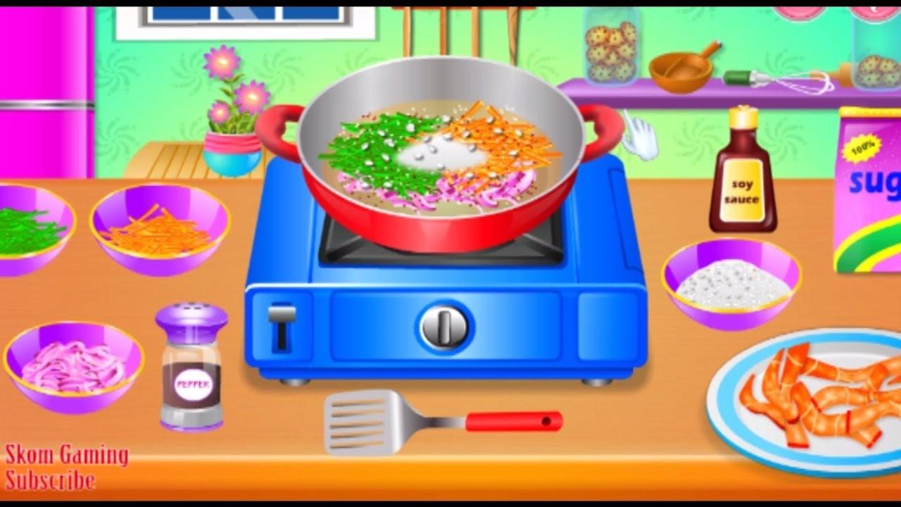 Game Masak Masakan Anak Kecil Permainan Masak Menyenangkan Masak Sayur Dan Daging Skom Gaming Youtube