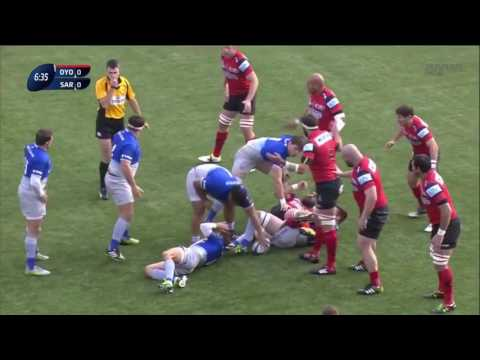 European rugby champions cup 2015  Oyonnax Rugby   Saracens 13 12 15