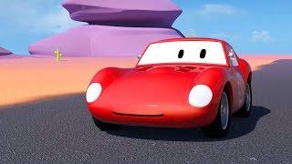 Spid el coche de carreras y dos Coches de Carreras | Dibujo animado para niños