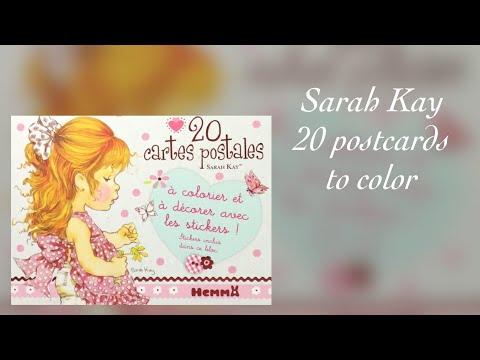 SARAH KAY 20 postcards to color - Flip through