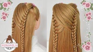 Trenzas para niña cabello largo