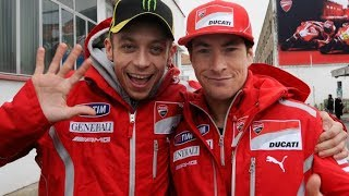 Nicky Hayden (R.I.P) in Unforgettable moment with Valentino Rossi